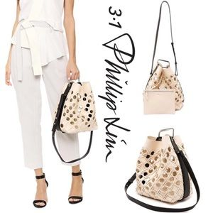 Authentic 3.1 Phillip Lim Quill leather bucket bag